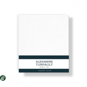 Alexandre Turpault Kussensloop Teophile Bio Satijn Wit