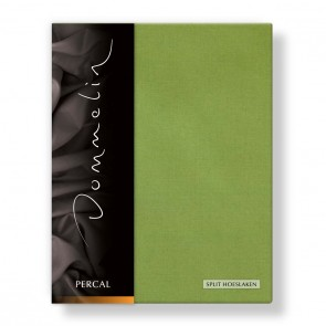 Dommelin Split Hoeslaken Percal groen