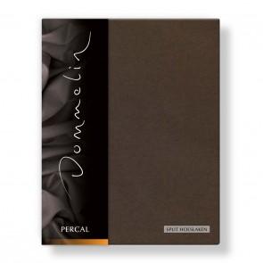 Dommelin Split Hoeslaken Deluxe Percal Choco