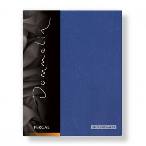Dommelin Split Hoeslaken Percal jeansblauw
