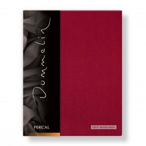 Dommelin Split Hoeslaken Deluxe Percal Rosso