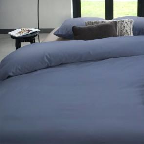 Dommelin Dekbedovertrek Satijn 600TC Staalblauw lits-jumeaux