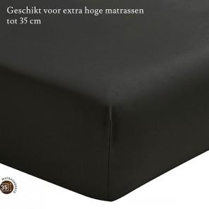 Essix Hoeslaken Hoge Hoek Percal Anthracite