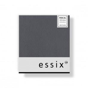 Essix Kussensloop 4 volant Percal Ardoise