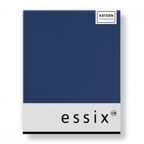 Essix Hoeslaken Stonewashed Katoen Bleu Nuit