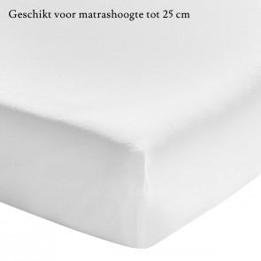 Essix Hoeslaken Stonewashed Katoen Wit