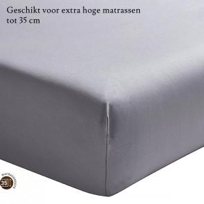 Essix Hoeslaken Hoge Hoek Percal Argent