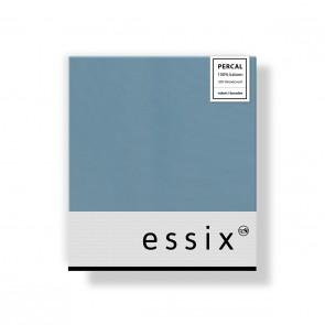 Essix Kussensloop 4 volant Percal Bleu Glacier