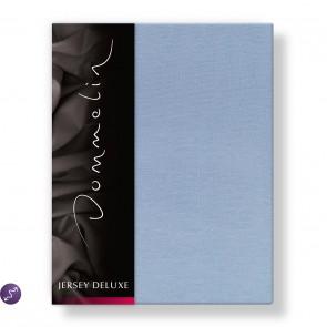 Dommelin Hoeslaken Jersey Deluxe Lichtblauw