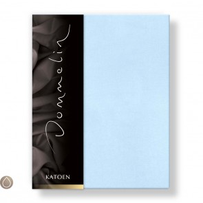Dommelin Hoeslaken Katoen Lichtblauw 80 x 200 cm