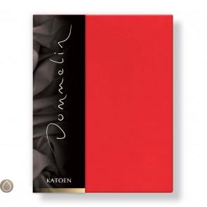 Dommelin Hoeslaken Katoen Rood 80 x 200 cm