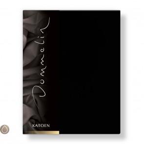 Dommelin Hoeslaken Katoen Zwart 80 x 200 cm