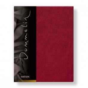Dommelin Hoeslaken Deluxe Satijn Rosso