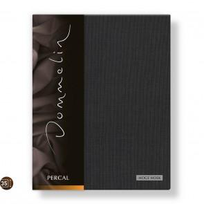 Dommelin Hoeslaken Hoge Hoek Deluxe Percal Steenkool 90 x 210 cm