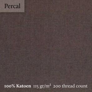 Dommelin Split Topper Hoeslaken 5-9 cm Percal 200TC Bruin