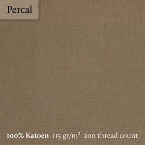 Dommelin Split Topper Hoeslaken 5-9 cm Percal 200TC Cappucino