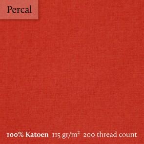 Dommelin Dekbedovertrek Percal 200TC Terracotta tweepersoons