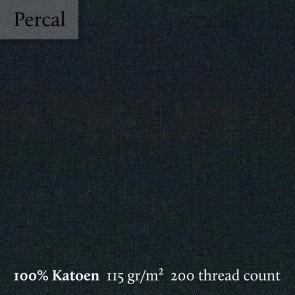 Dommelin Split Topper Hoeslaken 5-9 cm Percal 200TC Zwart
