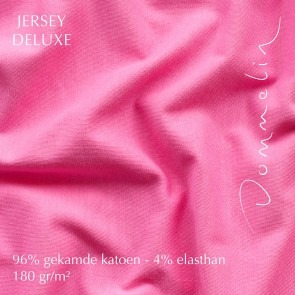 Dommelin Hoeslaken Jersey Deluxe Fuchsia