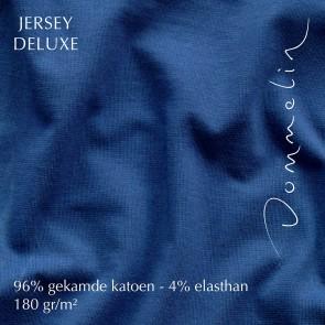 Dommelin Hoeslaken Jersey Deluxe Kobalt