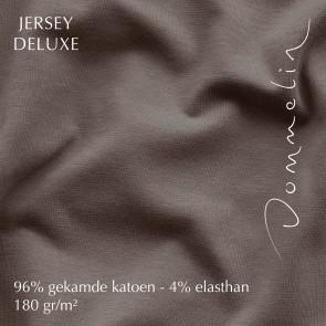 Dommelin Hoeslaken Jersey Deluxe Nootmuskaat