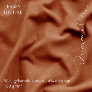 Dommelin Hoeslaken Jersey Deluxe Terracotta