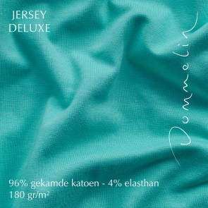 Dommelin Hoeslaken Jersey Deluxe Turquoise