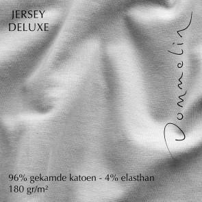 Dommelin Hoeslaken Jersey Deluxe Zilver
