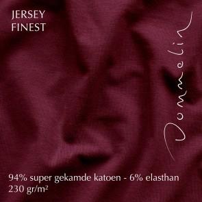 Dommelin Hoeslaken Jersey Finest Bordeaux