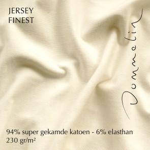 Dommelin Topper Hoeslaken Jersey Finest Ivoor 140 x 200 cm