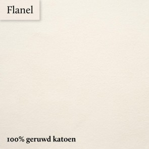 Dommelin Topper Hoeslaken 10-14 cm Flanel Ecru