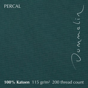 Dommelin Dubbel Split Topper Hoeslaken 10-14 cm Percal 200TC Antiekgroen
