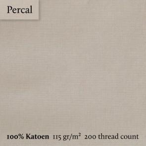 Dommelin Dekbedovertrek Percal 200TC Kaki eenpersoons
