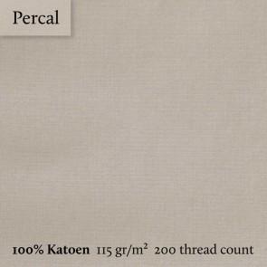 Dommelin Split Topper Hoeslaken 5-9 cm Percal 200TC Kaki