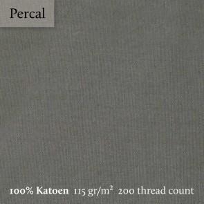 Dommelin Topper Hoeslaken 10-14 cm Percal 200TC Leisteengrijs