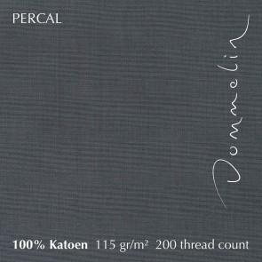 Dommelin Dubbel Split Topper Hoeslaken 5-9 cm Percal 200TC Olifantgrijs