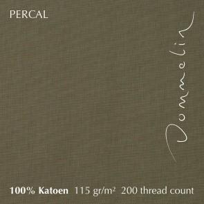 Dommelin Dubbel Split Topper Hoeslaken 10-14 cm Percal 200TC Olijfgroen