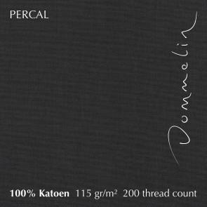 Dommelin Hoeslaken Hoge Hoek Percal 200TC Steenkool 90 x 210 cm