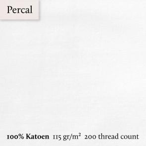 Dommelin Dubbel Split Topper Hoeslaken 5-9 cm Percal 200TC Wit