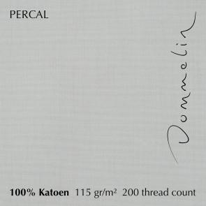 Dommelin Dubbel Split Topper Hoeslaken Percal 200TC Zilver