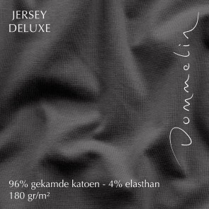Dommelin Hoeslaken Jersey Deluxe Antraciet