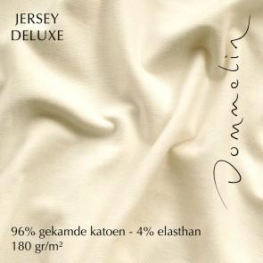 Dommelin Topper Hoeslaken Jersey Deluxe Ivoor
