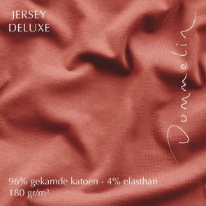Dommelin Hoeslaken Jersey Deluxe Koraal