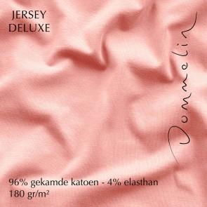 Dommelin Hoeslaken Jersey Deluxe Lichtroze