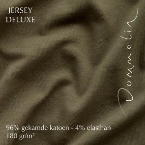 Dommelin Hoeslaken Jersey Deluxe Olijfgroen