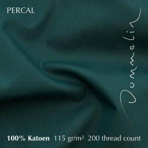Dommelin Split Topper Hoeslaken 10-14 cm Percal 200TC Antiekgroen