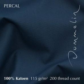 Dommelin Split Topper Hoeslaken 10-14 cm Percal 200TC Nachtblauw