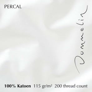 Dommelin Laken Percal 200TC Wit