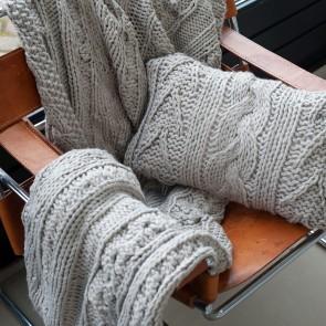 Dommelin Sierkussen Knitted Naturel