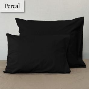 Dommelin Kussensloop Percal 200TC Zwart 60 x 70 cm